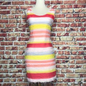 Wow Couture Layered Chiffon Bodycon Dress